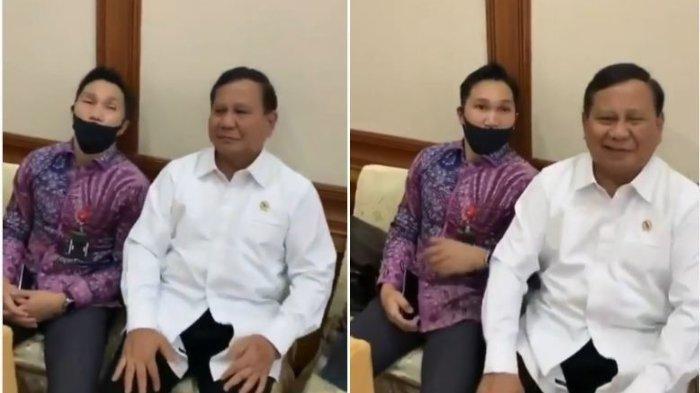 Saat Prabowo Subianto Tertawa Prank Staf yang Tertidur Pulas, Diam-diam Duduk di Samping