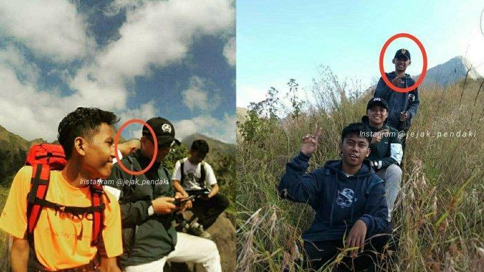 Momen terakhir Thoriq bersama teman-temannya saat mendaki Gunung Piramid, Bondowoso, Jawa Timur.