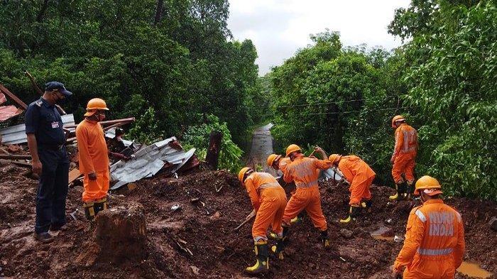125 Orang di India Tewas Akibat Hujan Deras dan Tanah Longsor