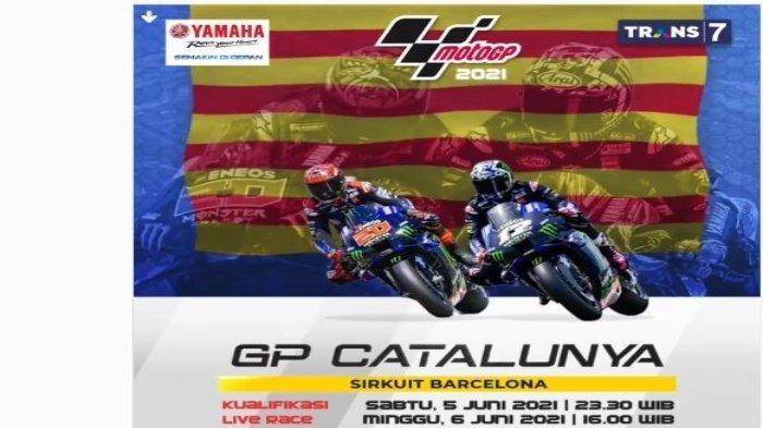Jam Tayang Kualifikasi MotoGP Catalunya 2021, Live Streaming Trans7 Mulai Pukul 23.30 WIB, Gratis