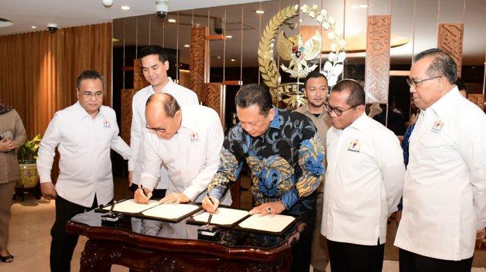MPR RI dan KADIN Indonesia Teken MoU Sosialisasi Empat Pilar MPR RI
