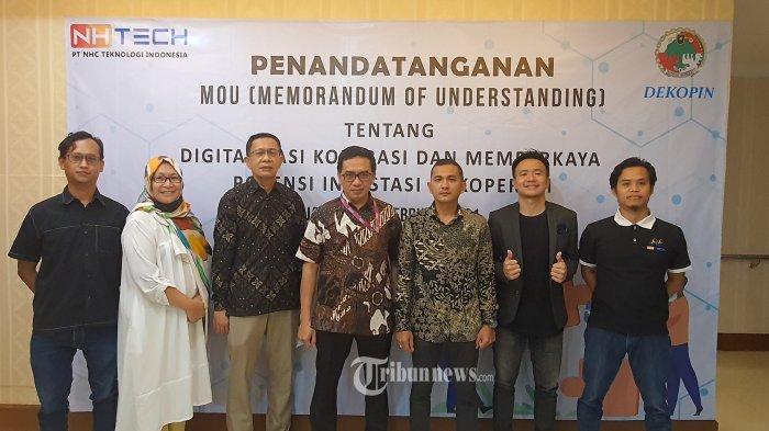 MoU Dekopin dan PT NHC Teknologi Indonesia.