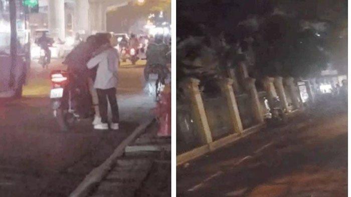 VIRAL Video Pasangan Kekasih Berciuman Mesra di Pinggir Jalan