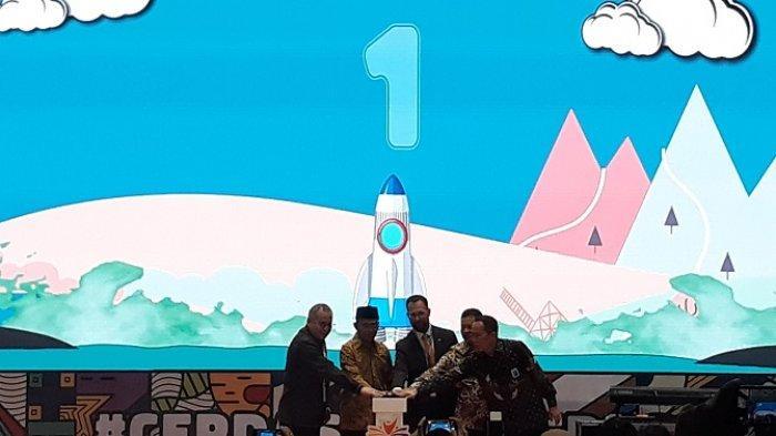 Menteri Pendidikan dan Kebudayaan RI (Mendikbud) Muhajir Effendy saat membukaan Festival Literasi Sekolah (FLS) yang ketiga, Jumat (26/7/2019) di Kompleks Kemendikbud, Jakarta