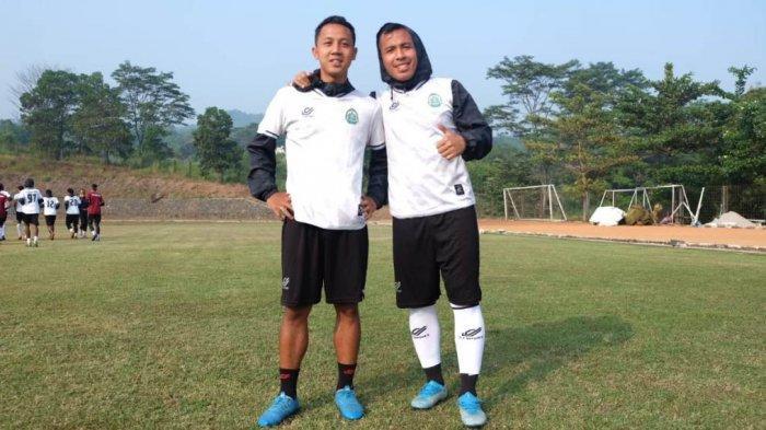 Muhamad Guntur Triaji menjalani sesi latihan di Lapangan PMPP, Hambalang, Kabupaten Bogor