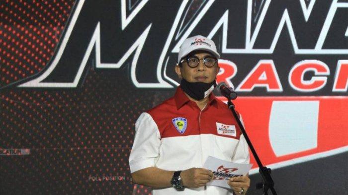 muhammad rapsel ali di pengumuman terbentuknya tim balap mandalika racing team indonesia (mrti) di moto village, jakarta, 9 november 2020.