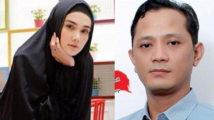 Mulan Jameela dan Ervin Lutfi, caleg yang digantikannya di DPR