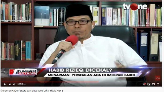 Munarman menjelaskan terkait dengan persoalan pencekalan Rizieq Shihab
