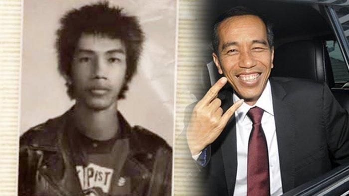 Muncul Foto Pria Bergaya Punk Mirip Jokowi Muda, Presiden Kuak Kebenarannya dan Unggah Foto Lawas
