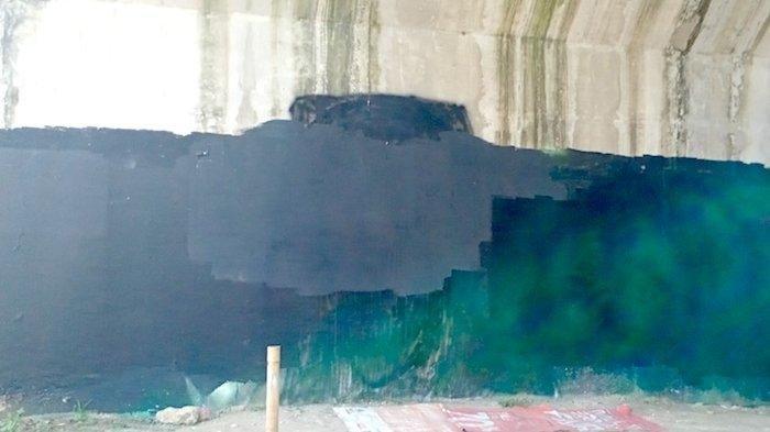 Penampakan Mural Viral Jokowi:404 Not Found yang Sudah Dihapus, Ditutup Cat Hitam