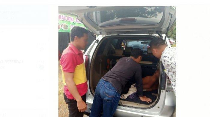 Musadi (39) ditangkap polisi. Tersangka pembunuhan anak kandung secara sadis di Desa Seringat, Kecamatan Sungai Manau, Kabupaten Merangin.
