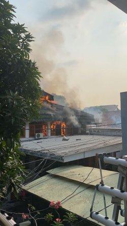 Musala terbakar