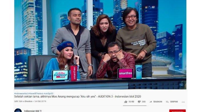 Musisi sekaligus juri ajang bernyanyi Indonesian Idol 2019, Anang Hermansyah sampai dibuat melongo saat mendengar lagu ciptaan dari seorang peserta audisi, Priska Utari.