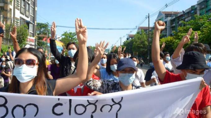 Ratusan Aktivis Antikudeta Myanmar Gelar Unjuk Rasa Lagi: Kami Tidak Takut Covid-19 dan Junta