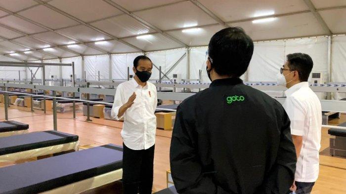 Presiden Jokowi Tinjau Rumah Oksigen Gotong Royong di Jakarta Timur