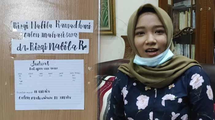 Rizqi Nabila Ramadhani, mahasiswa termuda Fakultas Kedokteran Universitas Airlangga Surabaya asal Kabupaten Ponorogo