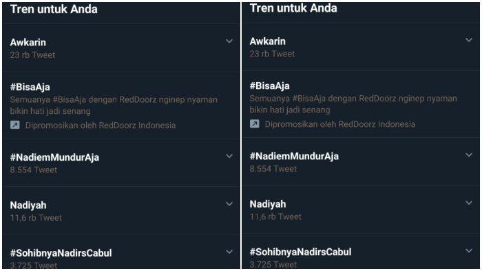 Menteri Pendidikan dan Kebudayan (Mendikbud) Nadiem Makarim menjadi trending topic di twitter