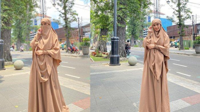 Nadya Mustika Rahayu Jajal Gaya Penampilan Baru Lebih Syar'i, Dipuji Semakin Cantik saat Pakai Niqab
