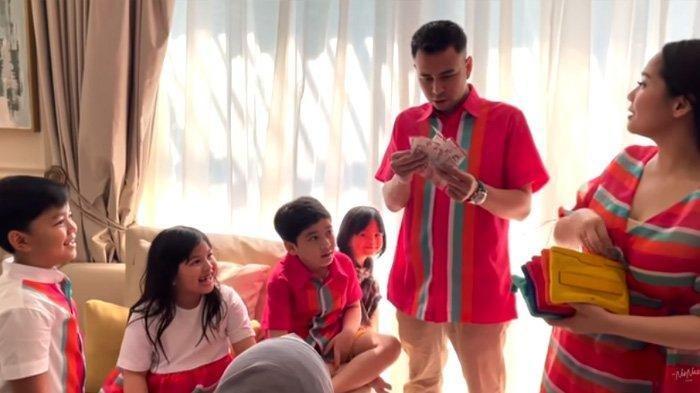 Nagita Slavina Beri THR untuk Keponakan, Raffi Ahmad Kaget Lihat Isinya, Per Amplop Rp 1 Juta