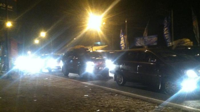 Jalur Solo-Jogja Padat, Pengendara Pilih Beristirahat