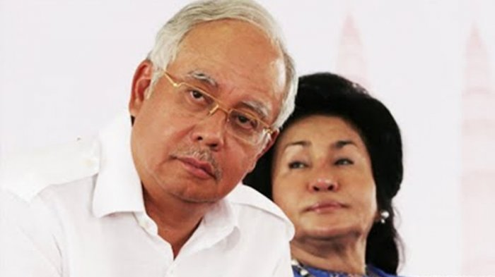 Mantan Perdana Menteri Najib Razak dan sang istri, Rosmah Mansor.