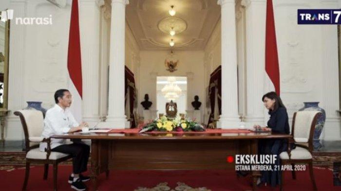 Presiden Jokowi dan Najwa Shihab (YouTube Najwa Shihab/Tangkapan Layar)