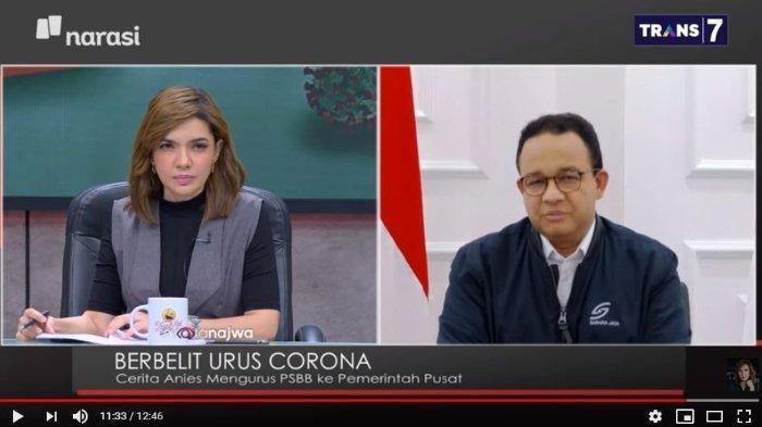 Najwa Shihab Pertanyakan soal Ojol Angkut Penumpang di Tengah PSBB, Ini Jawaban Anies Baswedan