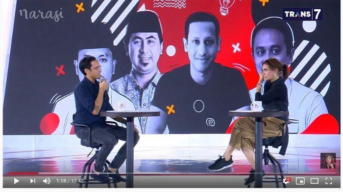 Nadiem Makarim di acara Mata Najwa.