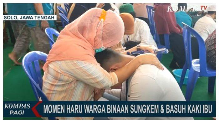 Sambut Idul Fitri 2021, Sepuluh Napi di Solo Dapat Kesempatan Sungkem dan Basuh Kaki Ibu