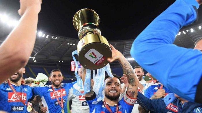 Napoli berhasil merengkuh trofi Coppa Italia setelah mengalahkan Juventus lewat babak adu pinalti, Kamis (18/6/2020)