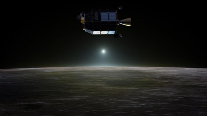 Pesawat Penjelajah Lingkungan Atmosfer dan Permukaan Bulan (LADEE) milik NASA.