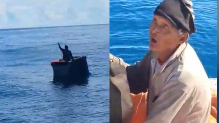 Nelayan Lansia Ini Berada dalam Kotak Gabus dan Terombang Ambing di Lautan Selama  6 Hari
