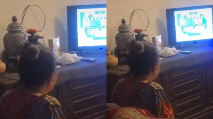 nenek nonton tv 1