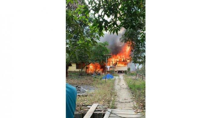 Seorang Nenek  di Lingga Terbakar Hidup-Hidup Saat Rumahnya Diamuk Api