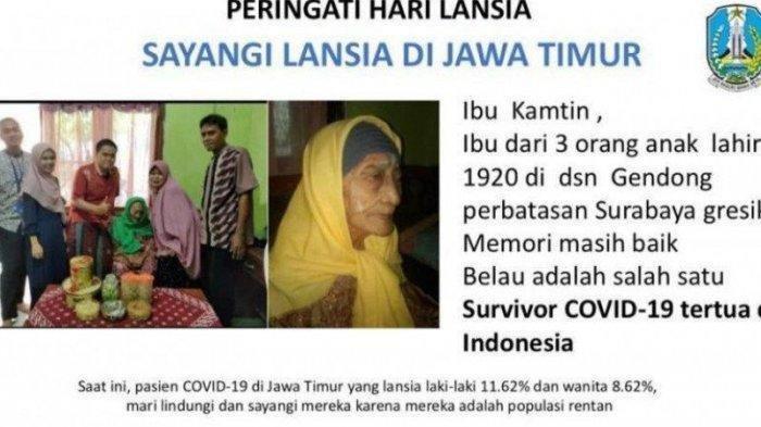 Kisah Nenek Berusia 100 Tahun di Jawa Timur Berhasil Sembuh dari Corona, Ternyata Ini Rahasianya