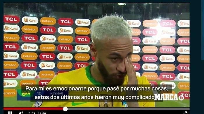 Emosional, Neymar Sampai Menangis Seusai Dekati Torehan Gol Pele