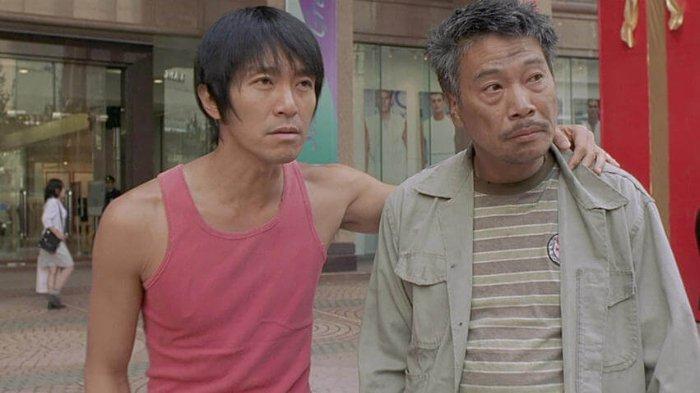 Ng Man-tat bersama Stephen Chow Sing-chi.