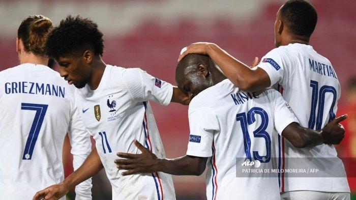 HASIL UEFA Nations League: Prancis Bungkam Portugal, Kante jadi Pahlawan Les Bleus