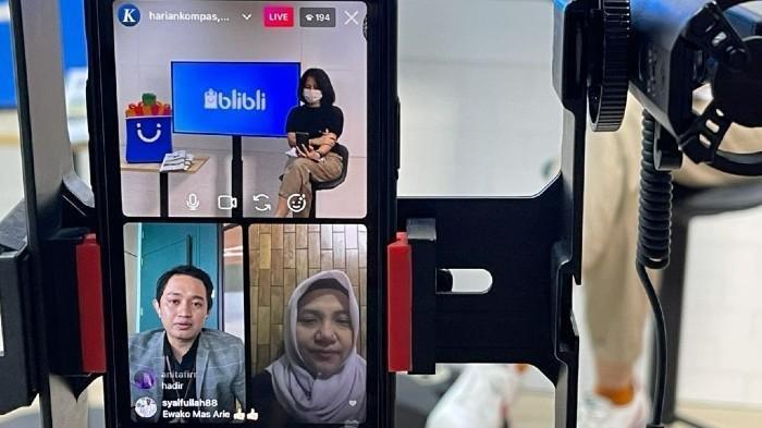 NguBis bertajuk Tips UMKM: Jalan Cepat Bareng Hebat bersamaAnsari Kadir (CMO GK Hebat) dan Bintari Saptanti (Owner Bakmi Sundoro)
