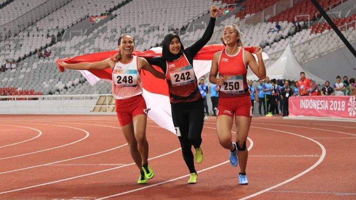 Saat Tiga Pelari Putri Indonesia Satu Podium di Nomor 100 Meter Para-Atletik Asian Para Games 2018