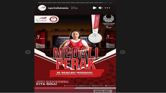 Ni Nengah Widiasih saat berjuang di Paralimpiade Tokyo 2021 dan berhasil memenangkan medali perak untuk Indonesia, Kamis (26/8/2021).