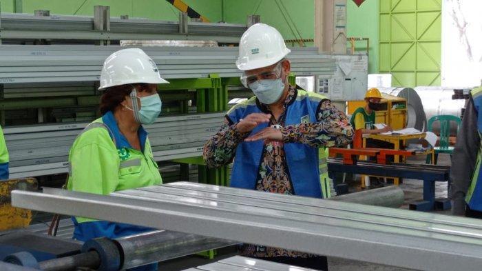 Cek Kapasitas Rantai Pasok, Kementerian PUPR Kunjungi Fasilitas Produksi Produsen Baja