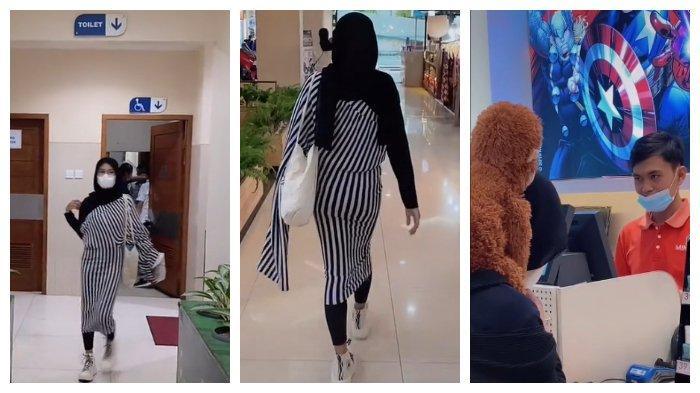 Nidia Menggunakan Kulot Sebagai Baju di Mall