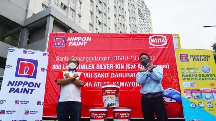 Peningkatan Kapasitas RSDC Wisma Atlet Kemayoran, Nippon Paint Donasikan Cat Anti-Mikroba Silver-Ion