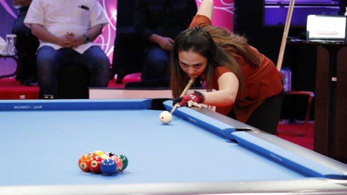 Nony Andillah Kalahkan Poppy Puspita di Pertandingan Perdana Turnamen Biliar 9 Ball Hot Nine