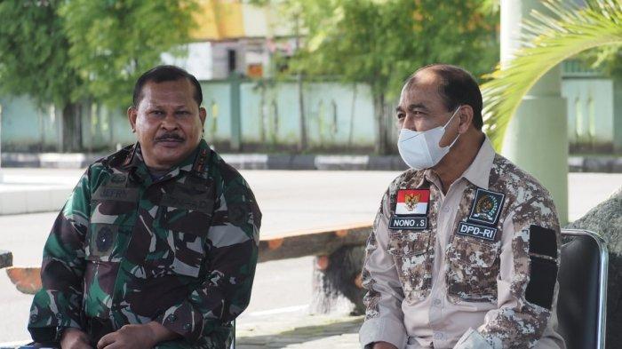 Tinjau Vaksinasi di Ambon, Nono Sampono Ajak Semua Pihak Bersatu Menangani Pandemi Covid-19
