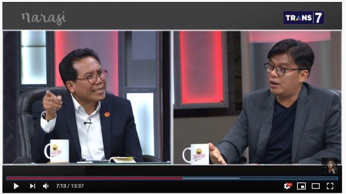 Pendiri Yayasan Prasasti Perdamaian Noor Huda Ismail dan Juru Bicara Kepresidenan Fadjorel Rachman Fadjroel Rachman (Tangkap Layar Youtube Najwa Shihab).