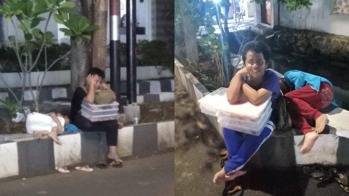 Viral Anak Berjualan Donat hingga Malam Bersama Adiknya di Trotoar Sampai Tertidur