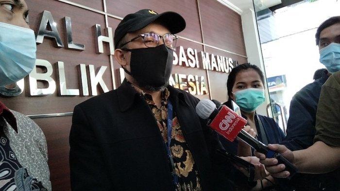 Penyidik Senior Komisi Pemberantasan Korupsi (KPK) Novel Baswedan di kantor Komnas HAM RI Jakarta pada Kamis (27/5/2021)