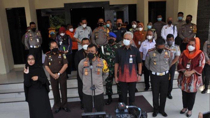 Launching Electronic Traffic Law Enforcement (ETLE) di Gedung Borobudur Mapolda Jawa Tengah, Semarang, Selasa (23/3/2021).